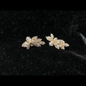 Vintage 80s Wedding Earrings